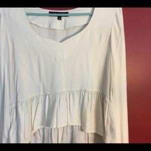 White For love & lemons bohemian style blouse, EUC